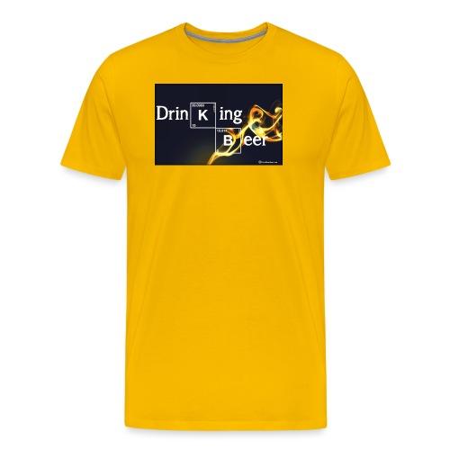 Drinking Beer Men's Premium T-Shirt - Men's Premium T-Shirt