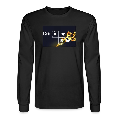 Drinking Beer Men's Long Sleeve T-Shirt - Men's Long Sleeve T-Shirt