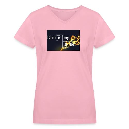 Drinking Beer Women's V-Neck T-Shirt - Women's V-Neck T-Shirt