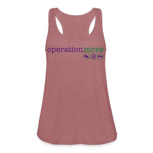 Muscle Tank - Purple and Green Print - Women's Flowy Tank Top by Bella