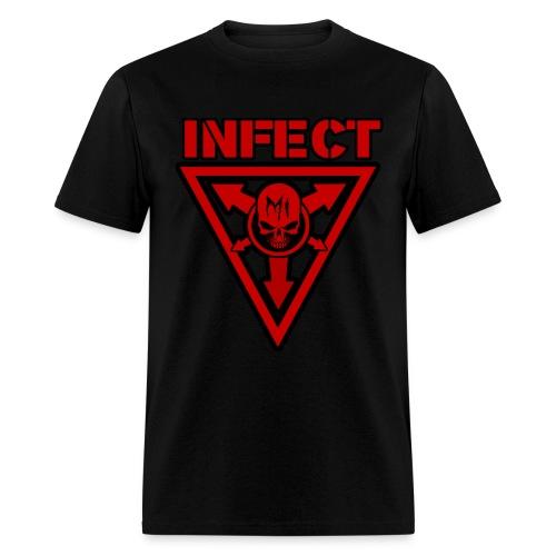 INFECT MUSIC RED SHIRT - Men's T-Shirt