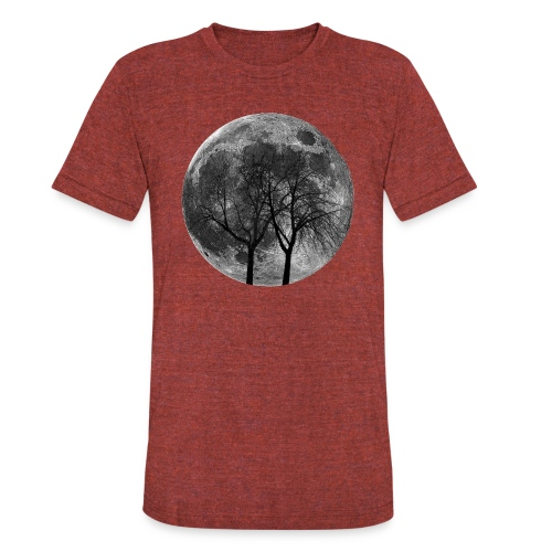 Moon and trees. - Unisex Tri-Blend T-Shirt