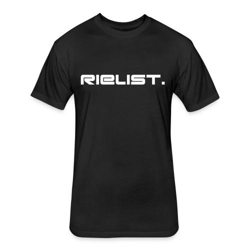 Male T Fitted Rielist. [Black]  - Fitted Cotton/Poly T-Shirt by Next Level