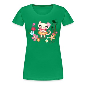 Hula Kitty - Women's Premium T-Shirt