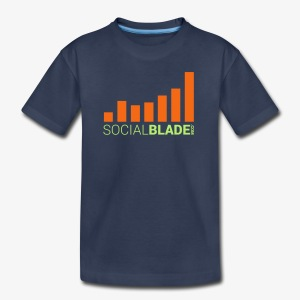 Social Blade Orange Youth T-Shirt - Kids' Premium T-Shirt