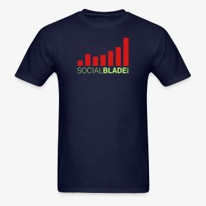 Social Blade Orange and Green Traditional Logo T-Shirt - Men's T-Shirt