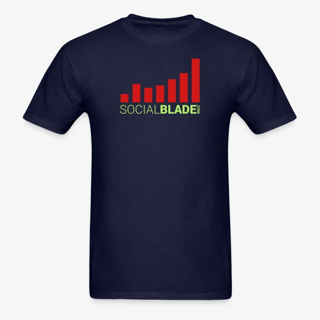 Social Blade Orange and Green Traditional Logo T-Shirt