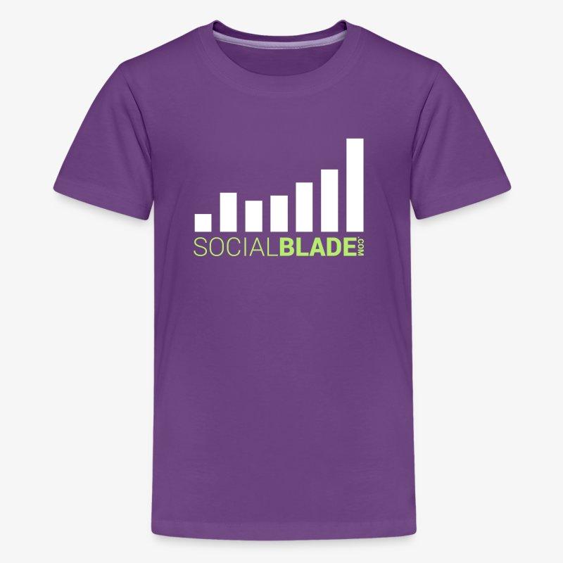 Social Blade Orange & Green Kids Premium T-Shirt - Kids' Premium T-Shirt