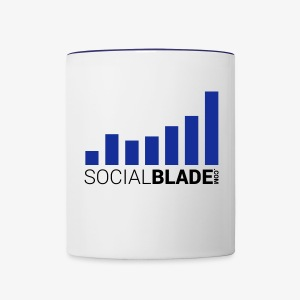 Social Blade Blue Mug - Contrast Coffee Mug