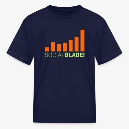Social Blade Orange Kids T-Shirt - Kids' T-Shirt