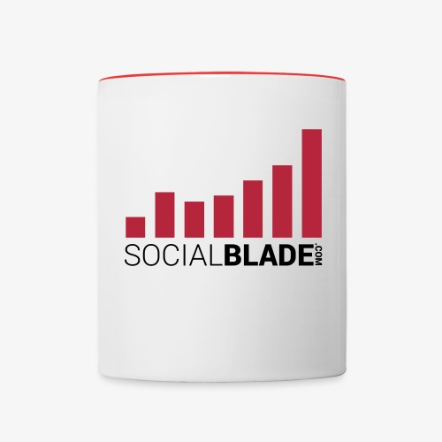 Social Blade Red Mug - Contrast Coffee Mug