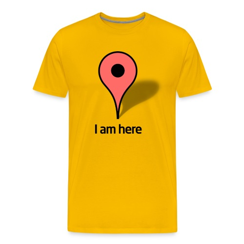 I am here - Men's Premium T-Shirt