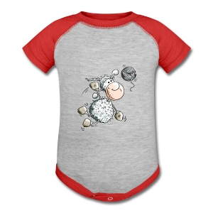 Funny Sports Sheep - Baby Contrast One Piece