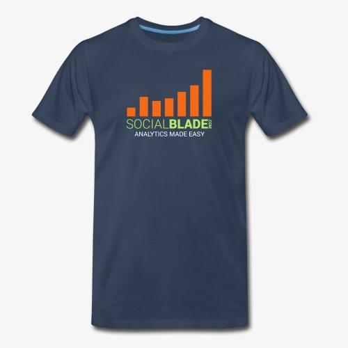 Social Blade - 2017 (Navy 2) - Men's Premium T-Shirt