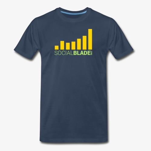Social Blade 2017 - Traditional (Navy 2) - Men's Premium T-Shirt