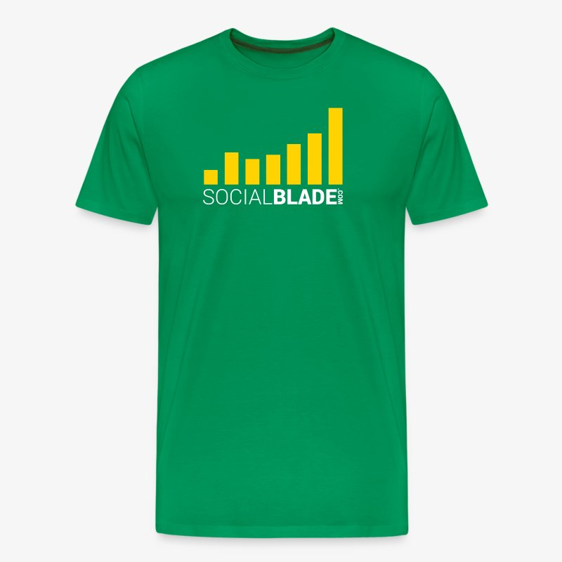Social Blade 2017 - Traditional (Green 2) - Men's Premium T-Shirt