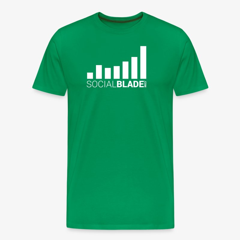 Social Blade 2017 - Traditional (Green) - Men's Premium T-Shirt