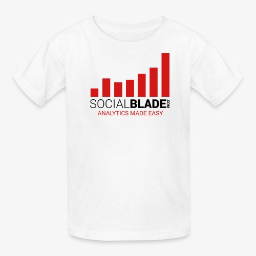 Social Blade (2017) - Kids (White) (Easy) - Kids' T-Shirt