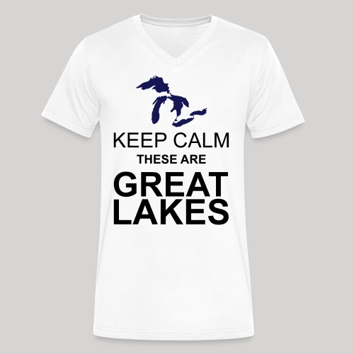 Keep Calm Great Lakes - Men's V-Neck T-Shirt by Canvas
