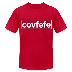 covfefe Donald J. Trump‏ (White)  American Apparel T Shirt - Men's T-Shirt by American Apparel