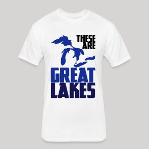 These are GREAT LAKES - Fitted Cotton/Poly T-Shirt by Next Level