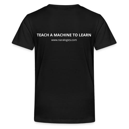KIDS - Network / Teach a Machine to Learn (White) - Kids' Premium T-Shirt