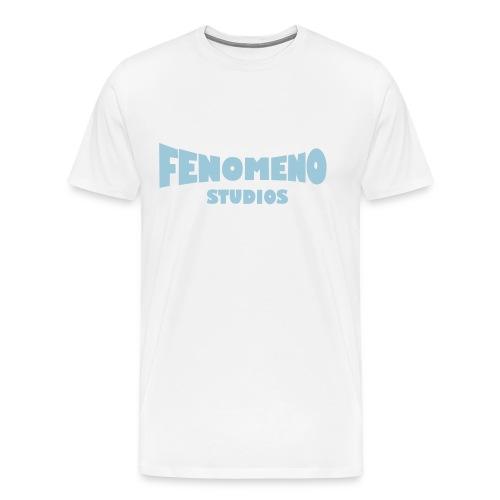 Men's Premium T-Shirt Blue Fenomeno Logo - Men's Premium T-Shirt