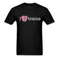 T-Shirts ~ Men's T-Shirt ~ YellowIbis.com 'Medical One Liners' Men's / Unisex Standard T-Shirt: I love brains (Color Choice)