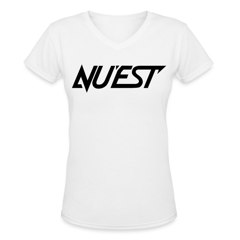 NU'EST Logo in Black Women's V-Neck - Women's V-Neck T-Shirt