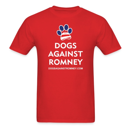 Official Dogs Against Romney Paw T-Shirt - Men's T-Shirt