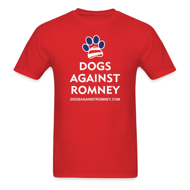 """Official Dogs Against Romney """"Paw"""" T-Shirt"""