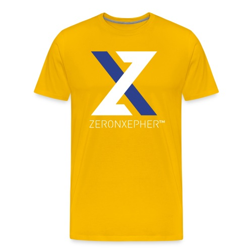 NEW ZeronXepher Official T-Shirt [Blue Ver] - Men's Premium T-Shirt