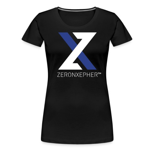 NEW ZeronXepher Official T-Shirt [Blue Ver] - Women's Premium T-Shirt