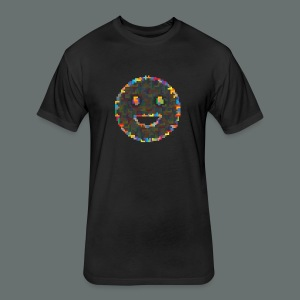 tetris smiley - Fitted Cotton/Poly T-Shirt by Next Level