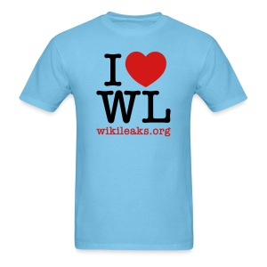 I Heart WikiLeaks - Men's T-Shirt