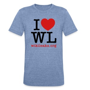 I Heart WikiLeaks - Unisex Tri-Blend T-Shirt by American Apparel
