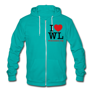 I Heart WikiLeaks - Unisex Fleece Zip Hoodie by American Apparel