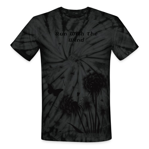 Run With The Wind (hippy-style tee) - Unisex Tie Dye T-Shirt