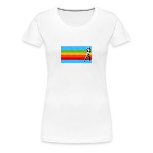 spaceman rainbow womens - Women's Premium T-Shirt