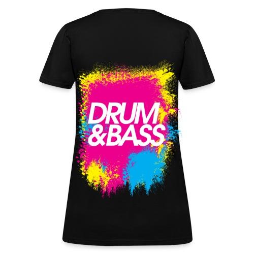 Neon Drum & Bass - Women's T-Shirt