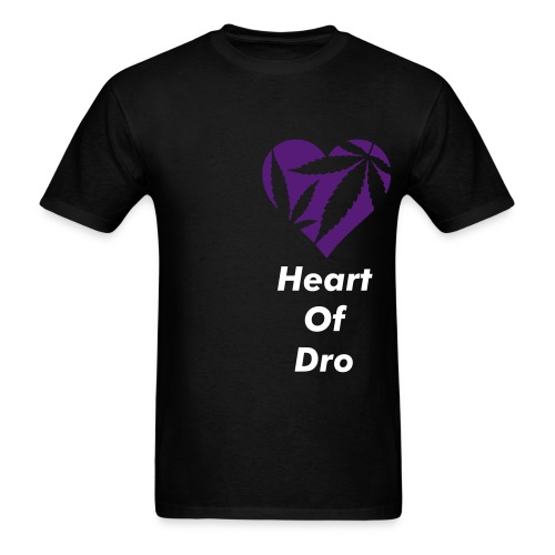 Heart of Dro Black/Purple - Men's T-Shirt