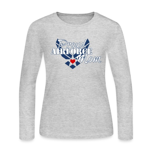 Proud Air Force Mom - Women's Long Sleeve Jersey T-Shirt