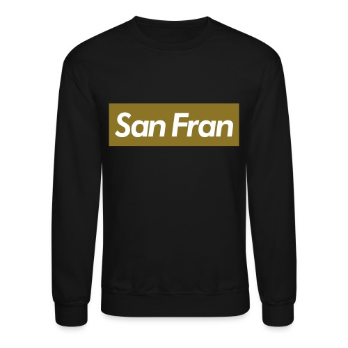 San Fran Crewneck Sweater Black/Gold - Crewneck Sweatshirt