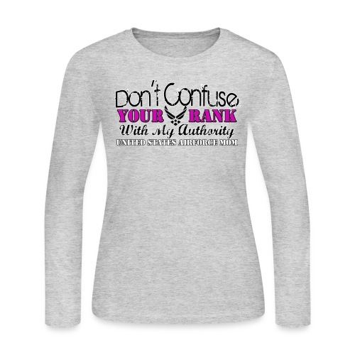 DON'T CONFUSE YOUR RANK WITH MY AUTHORITY! - Women's Long Sleeve Jersey T-Shirt