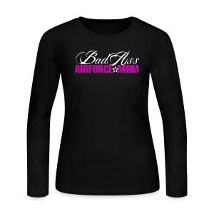 BAD ASS AIRFORCE MOM - Women's Long Sleeve Jersey T-Shirt