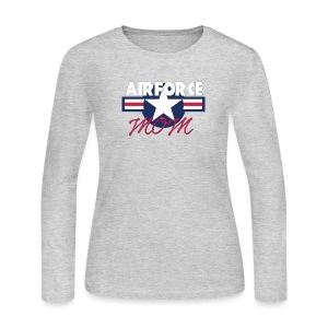 Proud Airforce Mom - Women's Long Sleeve Jersey T-Shirt