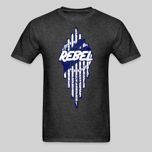 Rebel: Blue - Men's T-Shirt