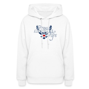 Patriotic Proud Air Force Wife Insignia - Women's Hoodie