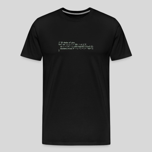 Shades of Grey - Men's Premium T-Shirt