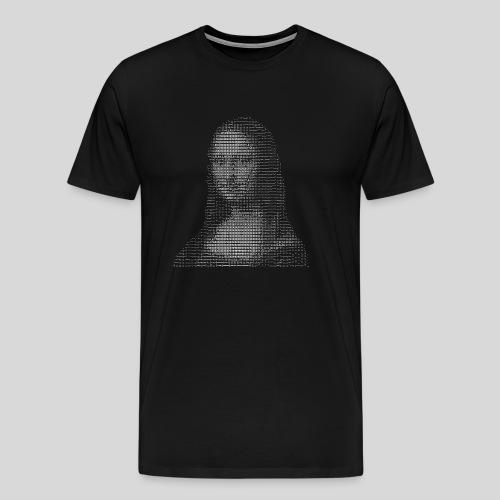 ASCII-Mona Lisa - Men's Premium T-Shirt